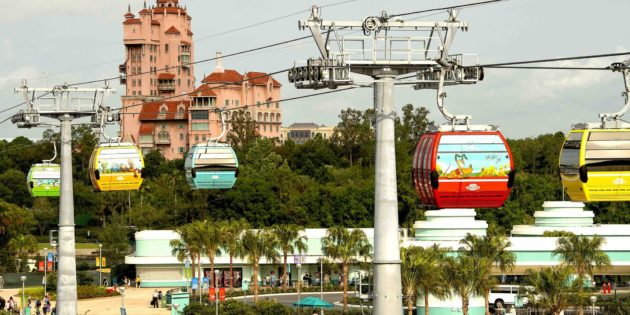 WDW resort unwraps 55 Disney Skyliner Gondolas