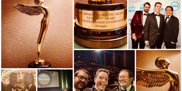 HOLOGATE wins 'Best Location-Based Entertainment' at the 2019 Lumiere Awards
