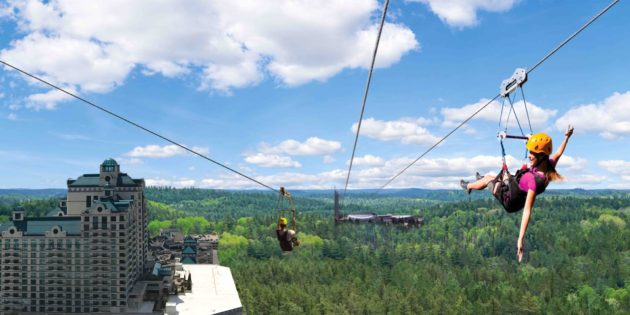 HighFlyer Zipline opens at Foxwoods