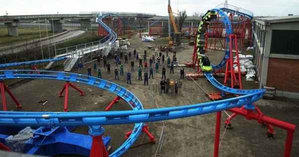 India's first indoor looping coaster