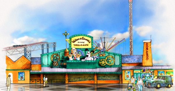 Wallace & Gromit at the Pleasure Beach