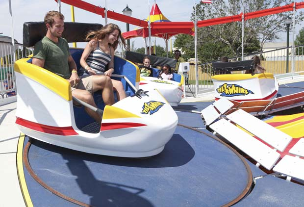 A classic (but new) Tilt-A-Whirl was added to the line-up in Orlando last year