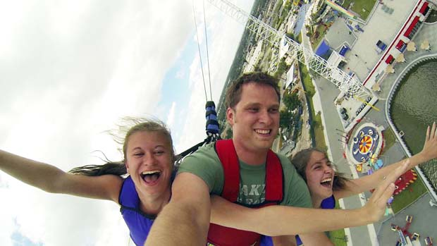 The world's tallest SkyCoaster provides plenty of action at Fun Spot in Kissimmee
