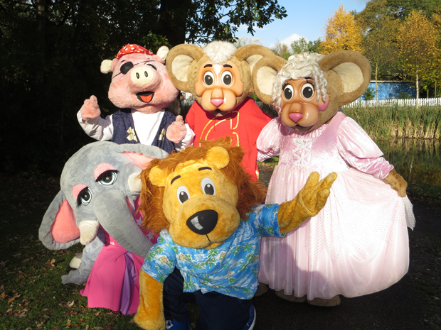 Gully Mouse and his mascot friends