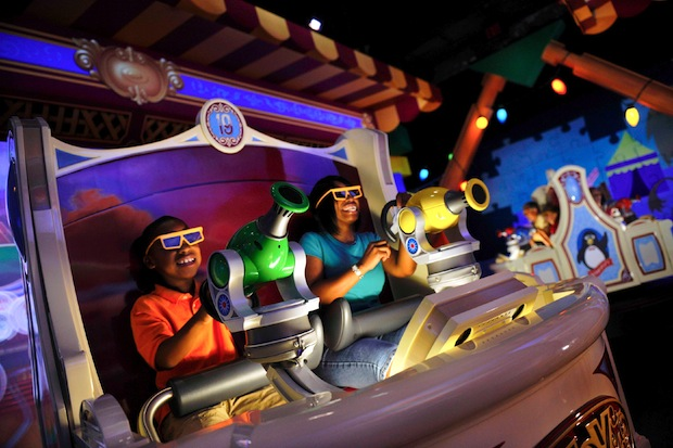 Toy Story Mania – a perfect marriage of ride and game