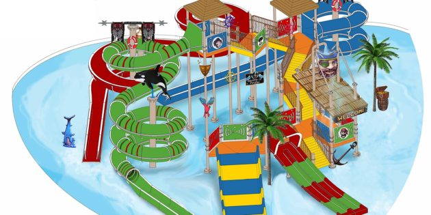Adventure Landing adding play slide complex