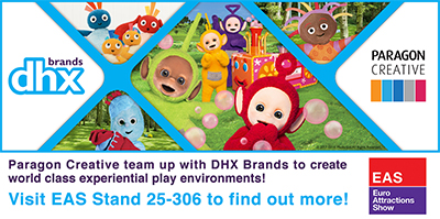 DHX brands and Paragon Creative offer design solutions for Teletubbies, In The Night Garden and Twirlywoos indoor attractions