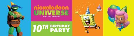 Ten-year celebration at Nickelodeon Universe