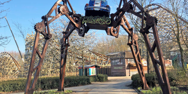 MK Themed Attractions creates Wilderness themed attraction at Walibi Holland for new hybrid coaster Untamed